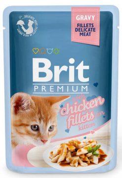 Brit Premium Cat Φακελάκι Fillet Gravy Κitten 85gr