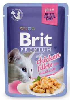 Brit Premium Cat Φακελάκι Fillet Jelly Chicken 85gr