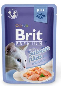 Brit Premium Cat Φακελάκι Fillet Jelly Salmon 85gr