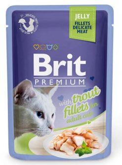 Brit Premium Cat Φακελάκι Fillet Jelly Trout 85g