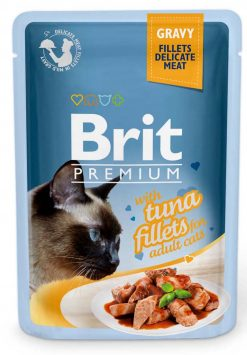 Brit Premium Cat Φακελάκι Fillet Gravy Tuna 85g