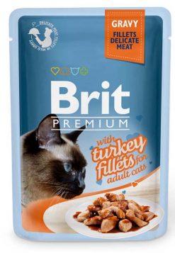 Brit Premium Cat Φακελάκι Fillet Gravy Turkey 85gr