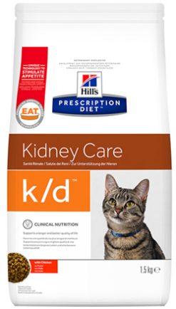 Hill's prescription diet feline k/d κοτόπουλο 1.5 kg