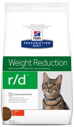 Hill's prescription diet feline r/d weight reduction chiken 1.5 kg