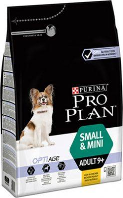 Pro plan adult small & mini 9+ chicken 3 kg