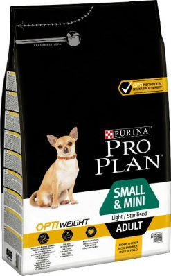 Pro plan adult small & mini light & sterilized 3 kg