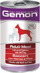 gemon dog chunks adult maxi beef