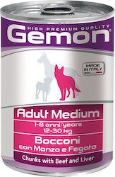 gemon dog chunks adult medium beef
