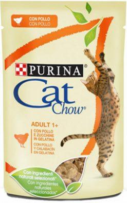 Purina cat chow adult κοτόπουλο & κολοκυθάκι 85 gr