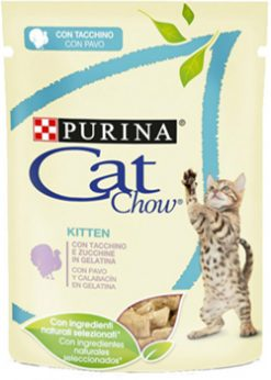 Purina cat chow kitten με γαλοπούλα κολοκυθάκι 85 gr